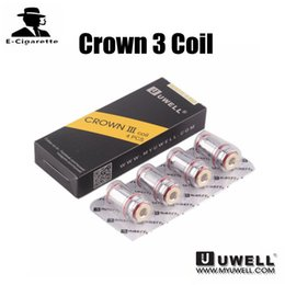 Wholesale Free Crowns - 100% Authentic Uwell Crown 3 Coil 0.25ohm 0.5ohm Replacement Coil For Uwell Crown 3 Tank Free Shipping