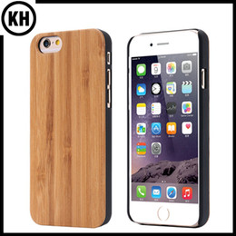 Wholesale Wood Iphone Bumper - Natural Wooden Cover Case For iPhone6 7 8 X iPhone6 7 Plus Original Ecology Woody Bamboo Wood With PC Protective Bumper Free Shipping