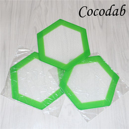 2019 pad concentré Aliments Grade Hexagon Silicone Dab Mat Non-stick BHO Huile Extract Shatter Dry Herb Concentrate Pad Silicone Baking Mats DHL pad concentré pas cher