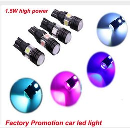 Wholesale Hid Can Bus - 100pieces lot T10 Can-bus 194 168 5050 4SMD + 1.5W With Lens LED NO ERROR For Car Door Lighting