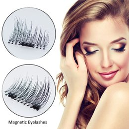 Wholesale Magnetic Accessories - New Reusable Magnetic Eyelashes Handmade Black Fiber Makeup False Eyelashes Eyes Make Up Accessories 1 Pair