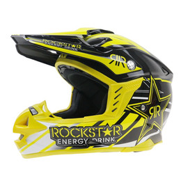 Wholesale White Motorcycle Helmet Full Face - Newest Rockstar Motocross Helmet Motorcycle Casque Racing Capacetes Casco ECE Approval RC2017