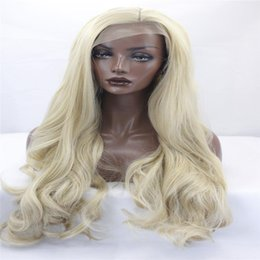 Wholesale Fashion Queen Hair - kabell Fashion wig lace front wigs blonde brown mixed long silky straight synthetic lace front wigs glueless heat resistant fiber drag queen