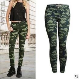 Wholesale Women Camo Pants Skinny - Military Camo Pants Women Plus Size Pencil Pant Hip Hop Streetwear Skinny Capris Trousers Casual Pants S-5XL BSF0312