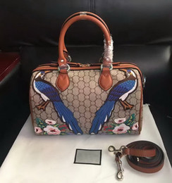 Wholesale Colourful Bags - New style high quality women brand fashion leather Embroidery Flowers Floral colourful handbag shoulder bag totes Cross Body free shipping