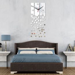 Gros-2016 promotion horloges murales modernes miroir design de luxe réel montre de bricolage 3d horloge en cristal autocollant salon décor livraison gratuite ? partir de fabricateur