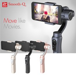 Wholesale Zhiyun Smooth Q Axis Handheld Gimbal Camera Stabilizer Wireless Control Panorama Mode for Smartphone quot to quot D4623