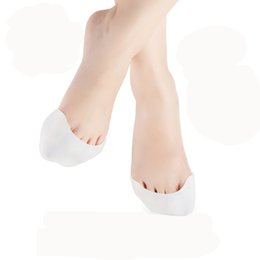 Wholesale Pointe Toe Pads - 1pair Silicone Gel Toe Soft Ballet Pointe Dance Shoes Pads Foot Care Corrector Protector Hallux Valgus Orthopedic Big Toe