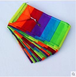 Wholesale Outdoor Stunts - Wholesale- Free Shipping Outdoor Fun Sports Kite Accessories  10m Rainbow bar Tail For Delta kite Stunt kite Kids Gift