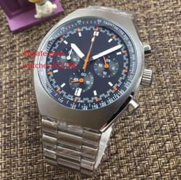 Wholesale Mark X - FashionHigh Quality Brand Watch 46mm x 42mm Blue Dial Mark II 327.10.43.50.06.001 Stainless Steel VK Quartz Chronograph Working Mens Watch