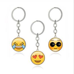 Portachiavi con ciondolo in vetro con catena in metallo con ciondolo in oro e pietre preziose supplier keys smile da chiavi sorridono fornitori