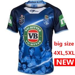 Wholesale Maroon T Shirts - Big SIZE 4xl 5xl 2017 2018 New Zealand All Blacks Welsh holden nswrl 17 18 Australia NSWRL Holden Jersey t shirt QLD Maroons rugby jerseys