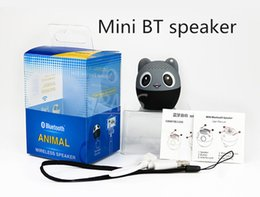 Wholesale Tiger Gifts For Kids - Factory Mini Bluetooth Speaker Cute Animal Cartoon Pig Dog Bear Tiger Panda Pocket Wireless Speaker Special Gift For Friend Kid Child