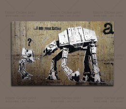 """Wholesale Wall Street Canvas - Banksy Street Art """"I'm your Father """"Home Decor Wall Art Painting Canvas Artwork wall art canvas prints decorative pictures"""