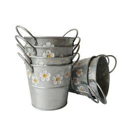 Spedizione gratuita Forniture da giardino D13 * H12CM Vivaio vaso da sposa Vasca da bagno all'ingrosso a buon mercato vasi di erba fiore sbalzato fioriera zinco vasca da