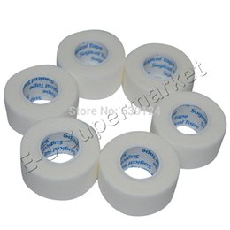 Wholesale Wholesale Surgical Tape - Wholesale- 2.5cm x 9.1m Surgical Micropore Nonwoven Paper Tape White Microporous Great Breathability 6rolls lot Free Shipping