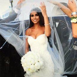 Wholesale Pearl Dreams - 2017 Vestido De Noiva Chapel Train Dream Bridal Gowns Pearls Beaded Lace Bodice Ruffles Mermaid Wedding Dresses Custom Made