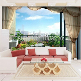 Wholesale 3d Scenery Photo - Wholesale-Waterproof Non-woven photo wallpaper Customize size High Quickly HD mural 3d wallpaper natural scenery wallpaper papel de parede