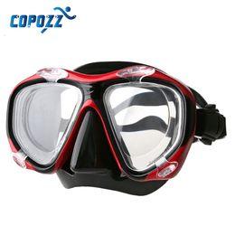 Wholesale Myopia Mask - Wholesale- COPOZZ Presbyopia Myopia Diving Equipment Training Scuba Grade Snorkel Mask Anti-Fog UV for Men Women