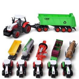 Wholesale 72 Models - 1:72 Sliding Alloy Toys Farmer Farm Tractor Planting Machine Sprinkler Inertia Model Engineering for Children Wholesale