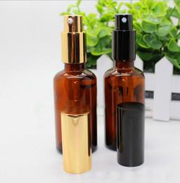 2019 augenröhrchen großhandel 528pcs 50ml Bernsteinparfümflasche Glasnachfüllbare Parfümflasche mit Metallspray leeren Verpackungsflaschen mit Spray