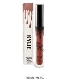 Wholesale Wholesale Single Sale - Kylie JENNER lip gloss Hot Sale Liquid Matte & Metal Last -lasting Moisturizer Single Lipstick 12 Colors