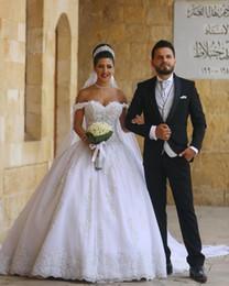 """vestidos de vestidos de baile victoria Desconto Vestidos de casamento do vestido de bola do país do casamento de 2018 vestidos de casamento árabes """"sexy"""""""