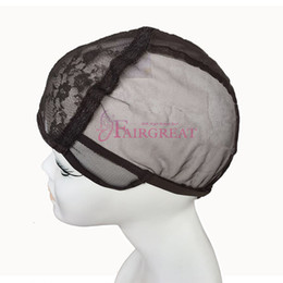 Wholesale Net Wigs - Wig Caps For Making Wigs Adjustable Straps Back Swiss Lace Full Front Lace Wig Cap Wig Weave Net Hair Extension Black&brown Wholesale price