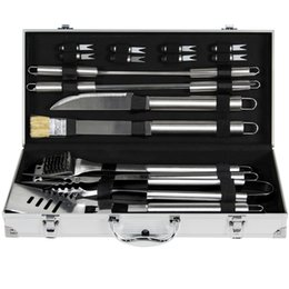 Wholesale Grilling Tool Sets - BCP 19pc Stainless Steel BBQ Grill Tool Set With Aluminum Storage Case