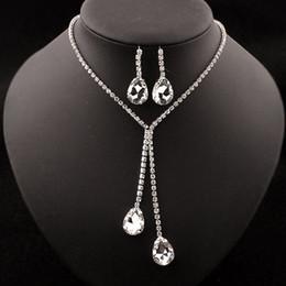 ohrring künstlich Rabatt Kristallhalsketten-Ohrringe stellten Edelsteinanhänger-künstlichen Schmucksache-Schmucksachen freies Verschiffen ein