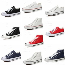 Wholesale Navy Blue Chucks - Wholesale Low Help Chuck Classic White Canvas Shoes Sneakers Love's Casual White Skateboard Shoes Free Shipping