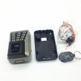 Lector de tarjetas al aire libre online-Al por mayor-metal impermeable al aire libre utilizado controlador de acceso biométrico ma500 con lector de tarjetas IC 13.56Khz sistema de acceso teclado