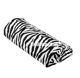 Wholesale zebra pillows - Wholesale- Artlalic Soft Zebra Stripe Hand Rest Cushion Pillow Nail Art Design Equipment Manicure Half Column Sponge Tools