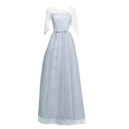 Vestidos siempre lindos online-Nuevas mujeres de la manera vestidos de noche Ever Pretty Mermaid Evening Party Dress más tamaño 4 clour gris rosa Champagne A-line hzl0701