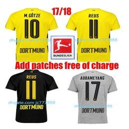 Wholesale Borussia Shirt - Top Thai quality soccer jersey 2017 2018 Dortmunds soccer jersey 17 18 AUBAMEYANG GOTZE KAGAWA DEMBELE PULISIC REUS Borussia shirts