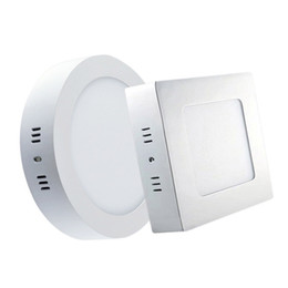 Wholesale Cool Bathrooms Design - 6W 12W 18W 24W Ceiling Downlights LED Surface Mount Lampada for Kitchen Living Room Modern Design Panel Lights Warm white Cool white CE ROSH
