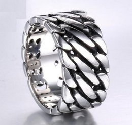 Wholesale Men S Wedding Style - B144 high quality trade jewelry wholesale European and American locomotive style explosion models 316L titanium steel men 's chain rings