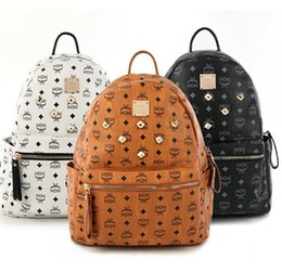 Wholesale Style Laptops - Luxury brand women bag School Bags PU leather Fashion Famous designers backpack women travel bag backpacks laptop bag