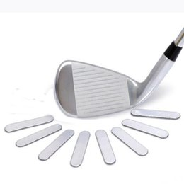 Wholesale Iron Decals Wholesale - Wholesale- 8pcs Golf Lead Tapes Add Swing Weight 5.1x1cm for Golf Club Accessaries Tennis Racket Iron Putter Golf Training Decal Sticker