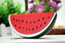 Wholesale Kids Resin Crafts - Newest Squeeze Toys Squishy Resin Crafts Cartoon Pendants PU Slow Rebound Simulation Buck Toys Simulation Small Watermelon