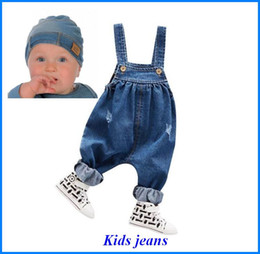 Wholesale Jeans Jumpsuit Baby Girl - Kids Jeans Rompers Pants Overalls kids Jumpsuit baby Boy Girl Jeans bobo choses for Autumn Winter Cotton fit for Outdoors Kid318