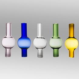 Dabber universel en Ligne-Bouchon de carbure de quartz dabber casquettes de carburateur de verre universel Bouchon de boule de verre Pyrex universel pour clous de banger à quartz sans dôme 10mm 14mm 18mm dab rig