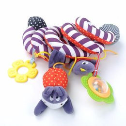 Wholesale Infant Lathe Hanging Toys - Wholesale- 2016 NEW Infant Toys Baby Crib Revolves Around The Bed Stroller Playing Toy Crib Lathe Hanging Baby Rattles Mobiles
