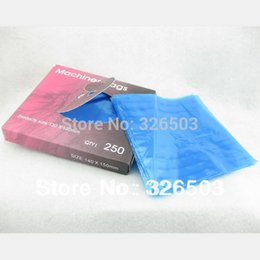 Wholesale Tattoo Machine Covers Bags - Wholesale-One Box Of 250PCS Plastic Clear Blue Tattoo Machine Cover Bags Supply MCO-A