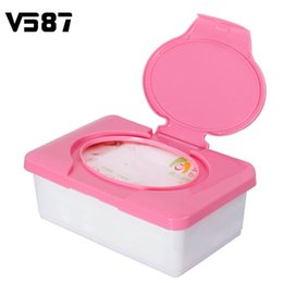 baby room box Promo Codes - Wholesale- Automatic Plastic Wet Tissue Box Carro Real Tissue Case Press Pop-up Design Baby Wipes Case Household Practical Tissue Holder