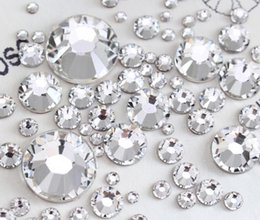 Wholesale Diamond Phone Case Diy - Best High Quality Very Shiny Crystal FlatBack Non-Hot Fix Rhinestones Nail Art Phone Case DIY Loose Copy Diamonds Accessories