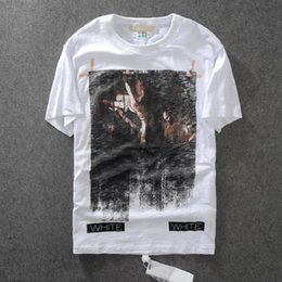 43e01691 Real Hot Off White Tee With Off-white Tags Stripe Triped Religious Jesus Virgil  Abloh Brand T-shirt Black White Colors