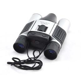 Wholesale Binocular Digital Video Camera - 640x480 Resolution 1.3MP 10x25 Zoom Outdoor Spy Binocular Built-in Digital Telescope Camera DVR Video Recorder