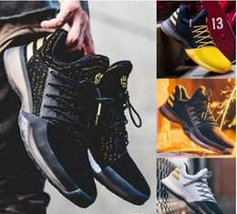 Wholesale B Grade Shoes - Latest James Harden Vol.1 Black History Month White Orange Gold Mens Basketball Shoes Harden Vol.1 Low BHM Boys Grade School Sneakers