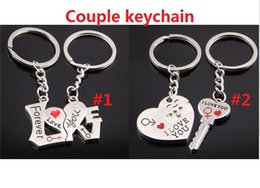 Wholesale Led Solar Advertising - Metal love word couple key chain pendant package pendant creative advertising promotional activities publicity small gift M0529